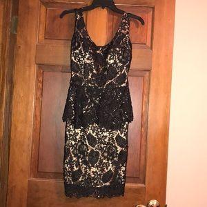 Jovani Black Lace Cocktail Dress